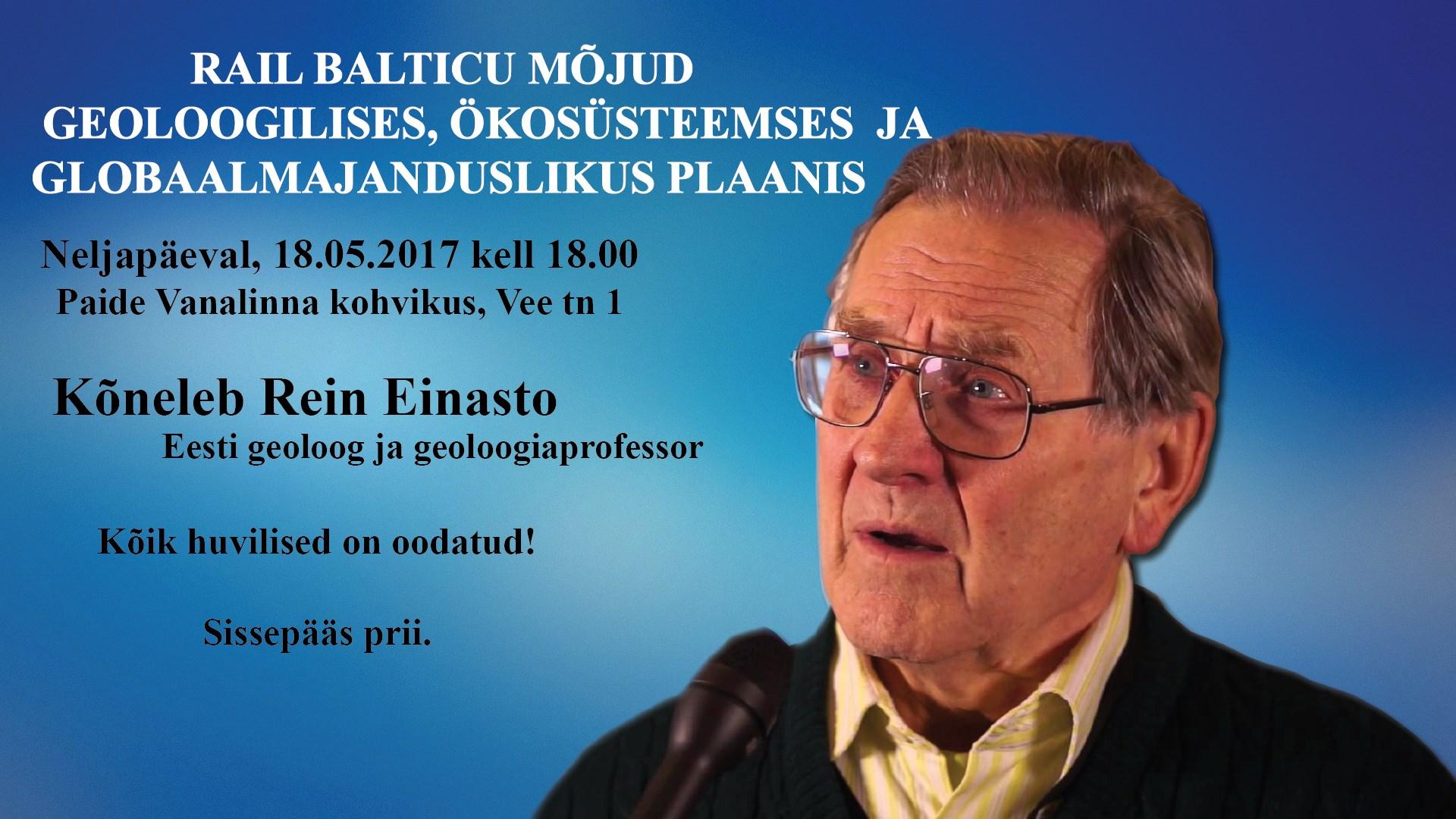 Aruteluõhtu koos professor Rein Einastoga