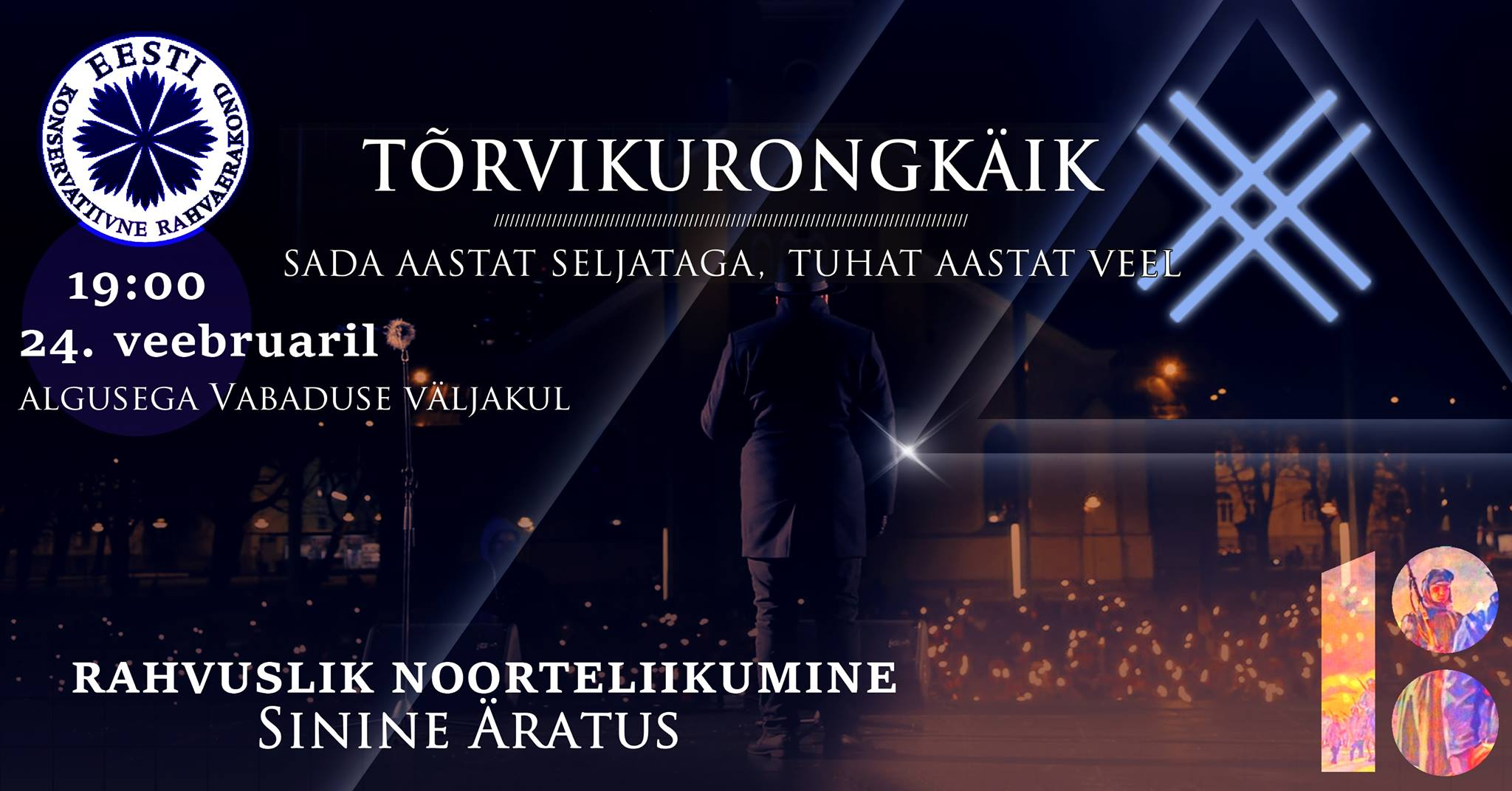 Tõrvikurongkäik: Eesti Vabariik 100